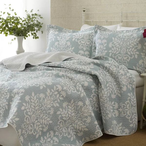 """Get it at <a href=""""https://www.jossandmain.com/bed-bath/pdp/laura-ashley-home-rowland-100-cotton-reversible-coverlet-set-by-l"""