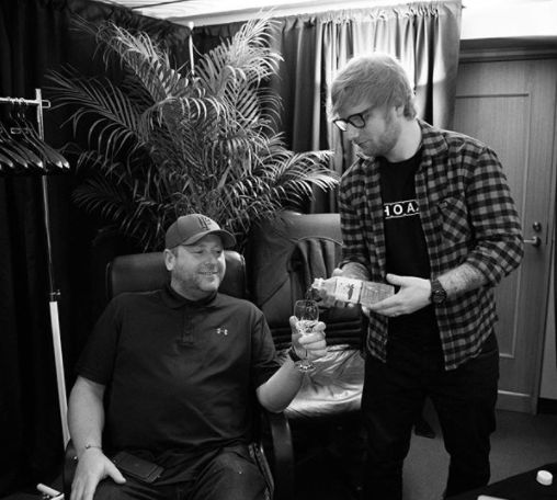 Ed Sheeran's Bodyguard Humorously Instagrams His Life With The