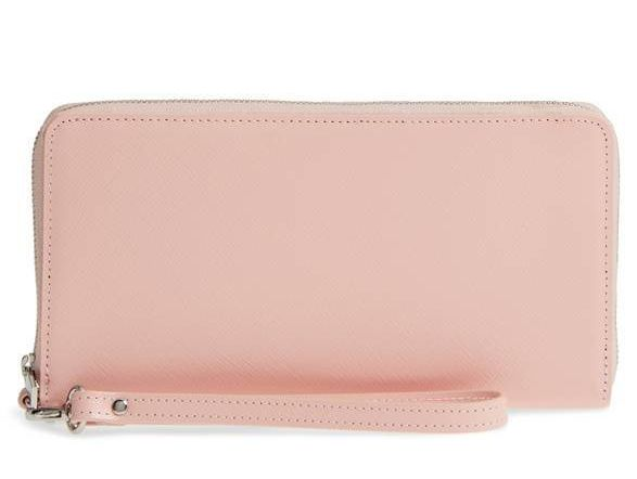 """This millennial pink zip-around wallet has us dreaming of spring. Did we mention it's <a href=""""https://shop.nordstrom.com/s/n"""