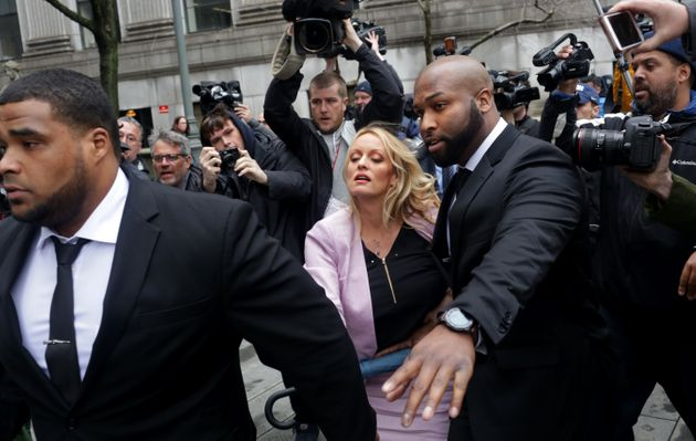 Adult film actress Stephanie Clifford, whose stage name is Stormy Daniels, arrives at the United States...