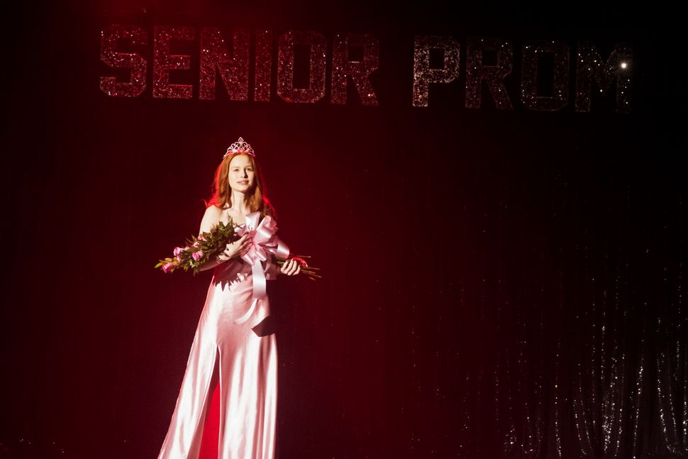 "Madelaine Petsch (Cheryl) performs as Carrie White in a teen production of ""Carrie: The Musical"" on the CW s"