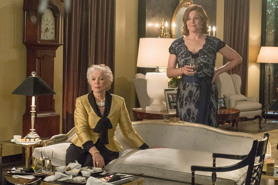 "Ellen Burstyn and Sigourney Weaver in ""Political Animals."""