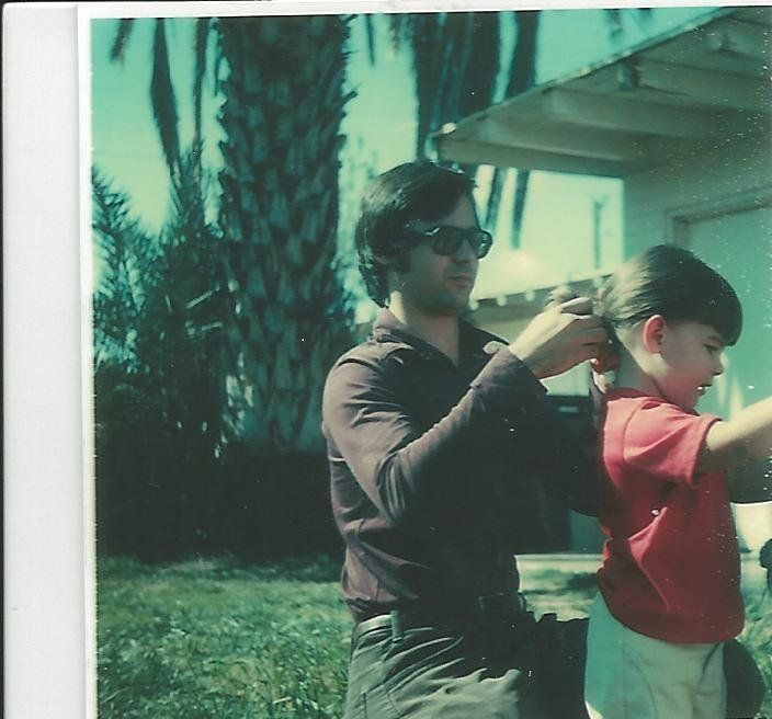 Jenn Carson as a child with her father, Jim