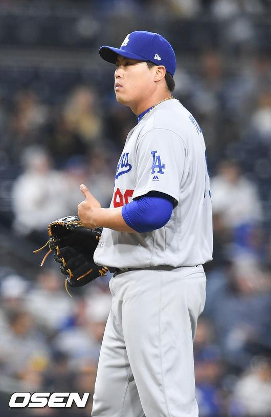 류현진이 올 시즌 두 번째 승리를