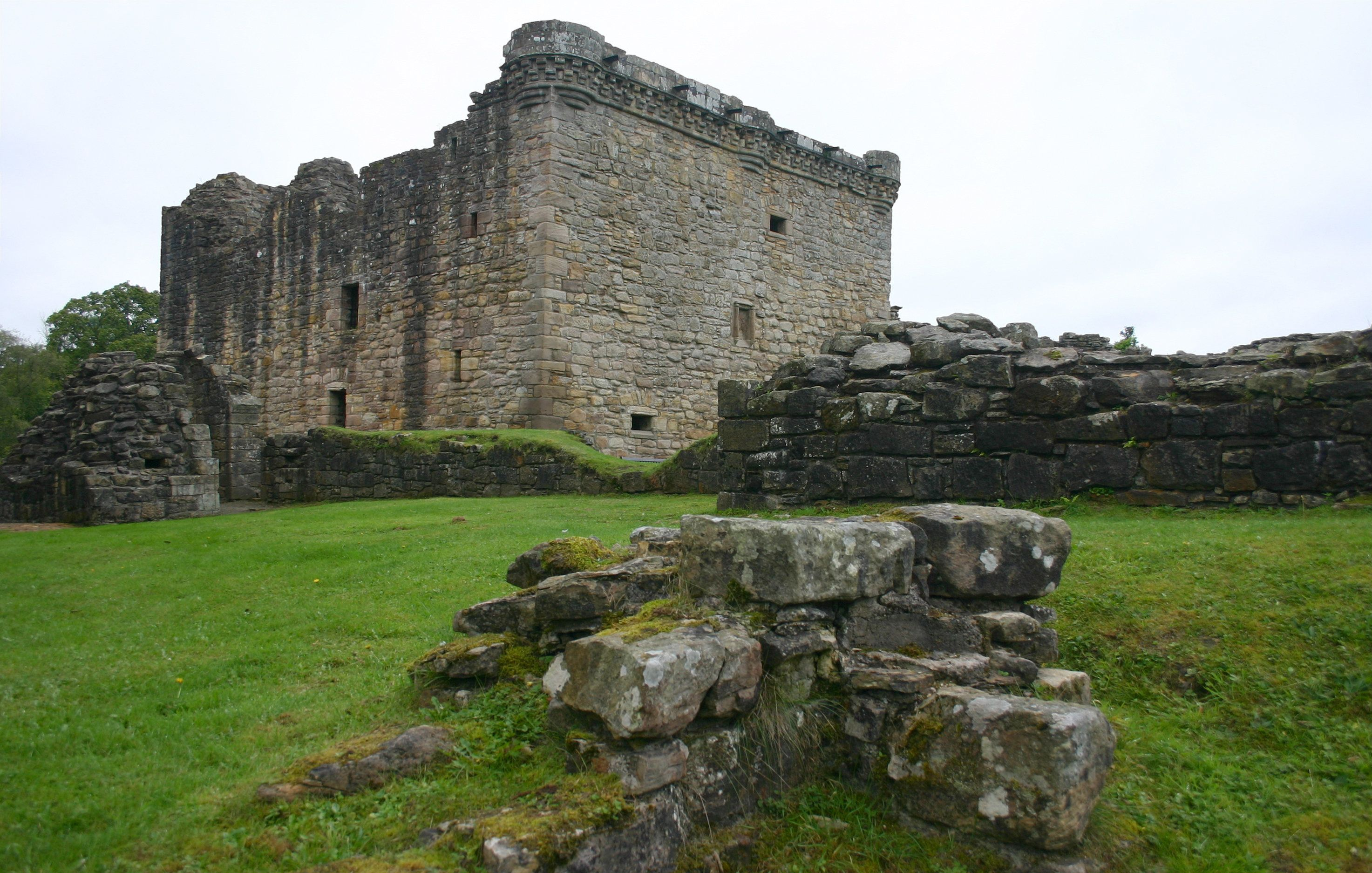"Craignethan Castle, which was under siege by a ""very angry badger."""