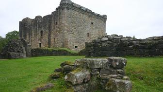 The Keep of Craignethan Castle in Lanarkshire, Scotland.  Built in 1531 and, according to tradition, the inspiration for Tillietudlem Castle in Sir Walter Scott's novel Old Mortality.
