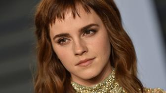 BEVERLY HILLS, CA - MARCH 04:  Actress Emma Watson attends the 2018 Vanity Fair Oscar Party hosted by Radhika Jones at Wallis Annenberg Center for the Performing Arts on March 4, 2018 in Beverly Hills, California.  (Photo by Axelle/Bauer-Griffin/FilmMagic)