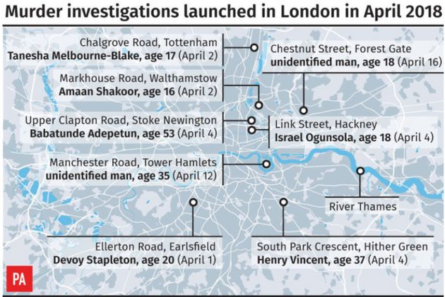 Murder investigations launched in London this month