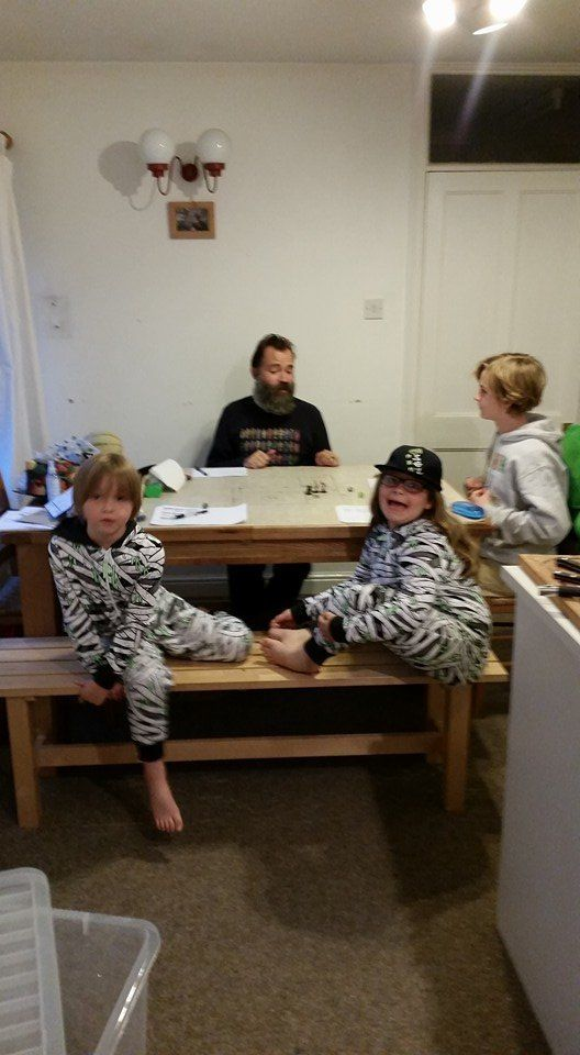 Isla Macneil's husband Tom and their three kids Lola, 10, Xander, 10, and Isaac,