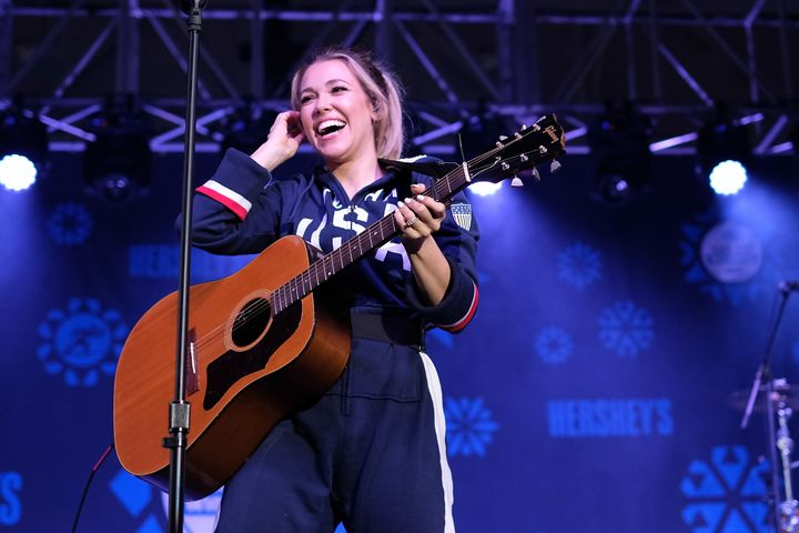 "Rachel Platten, pictured in February, found ""The Star-Spangled Banner"" to be a tad tricky at a pro soccer game last weekend."