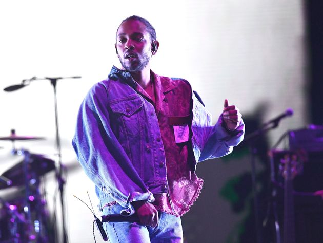 Kendrick Lamar lors d'une performance au festival Coachella, le 13 avril