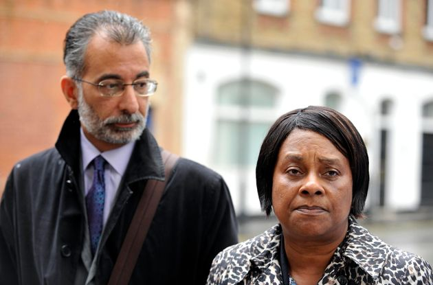 Baroness Lawrence with lawyer Imran