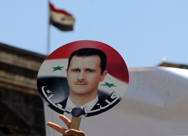 Protesters against Western airstrikes in