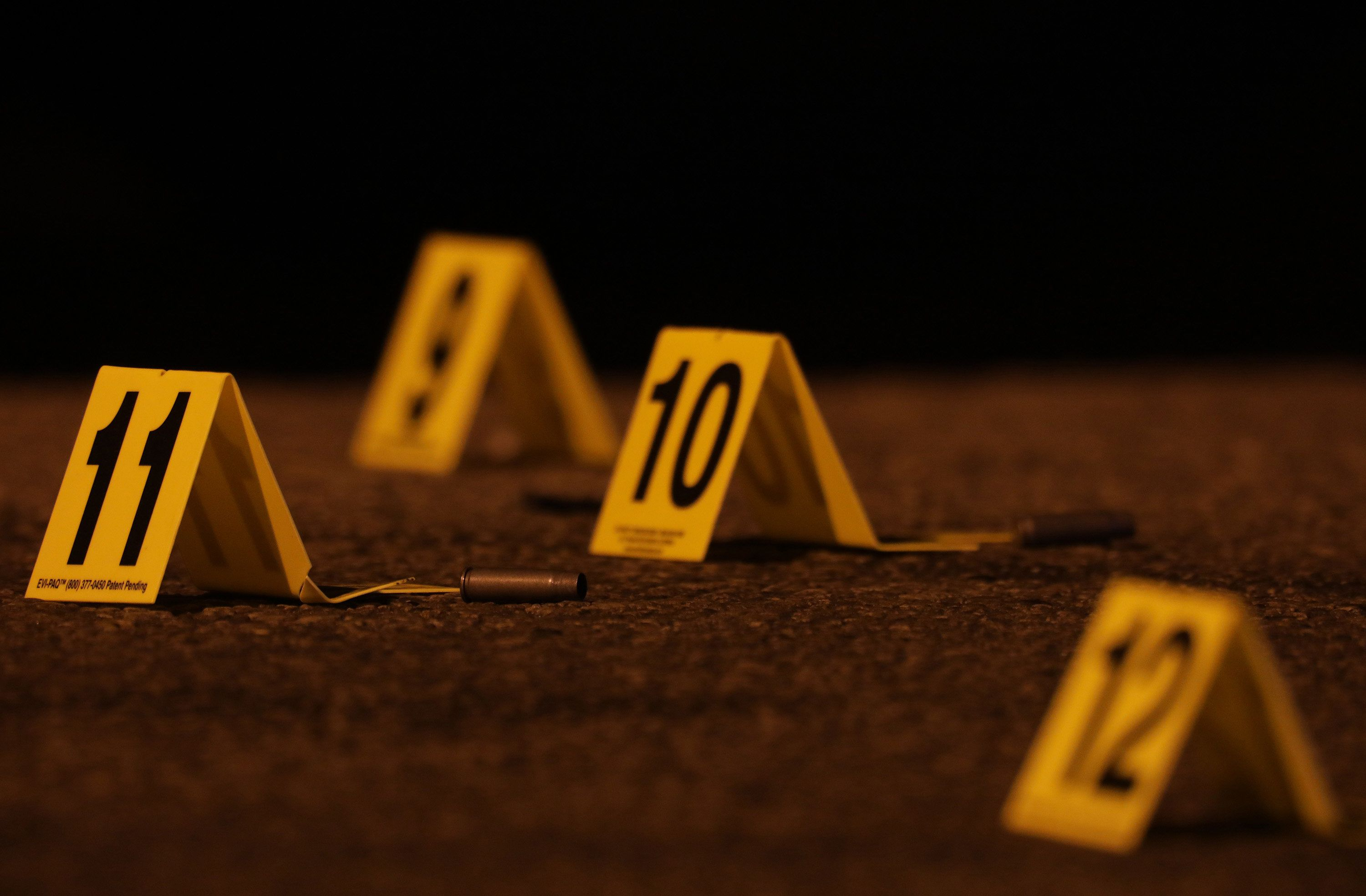 Shell casings recovered from December shooting that killed two and wounded one in the Chicago Lawn neighborhood.