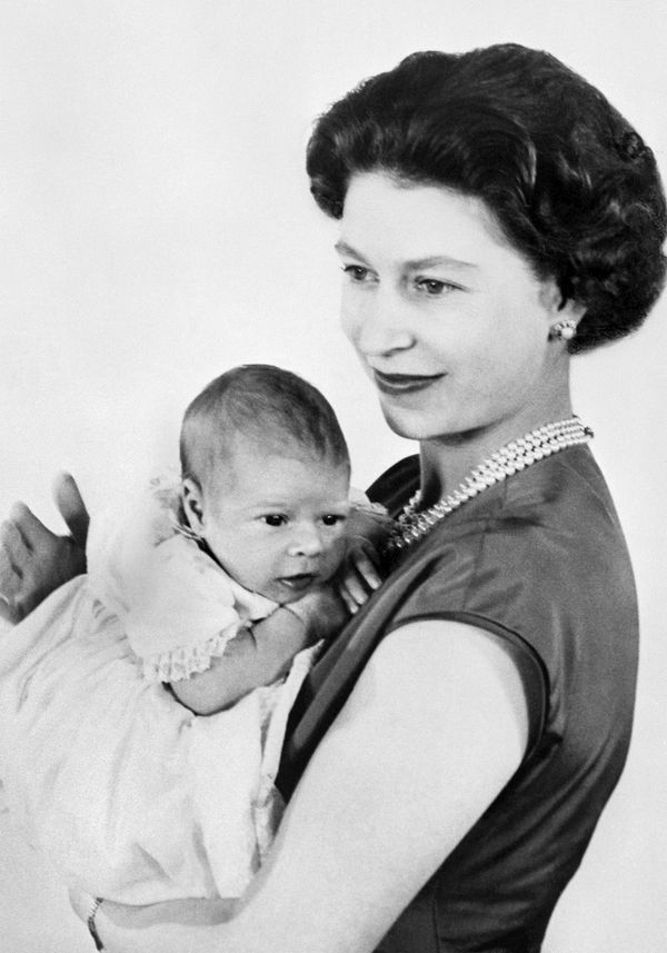Seven years after her coronation, Elizabeth welcomed her third child, Prince Andrew.