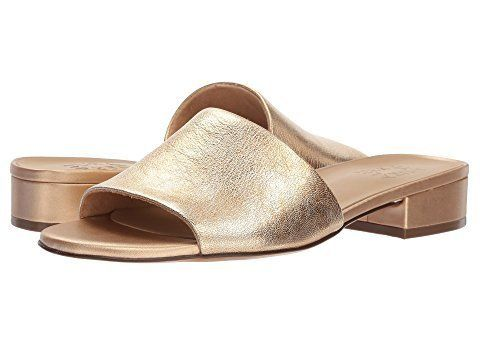 """These metallic slides are sure to pair with any outfit in your summer wardrobe.<br><br><a href=""""https://www.zappos.com/p/natu"""