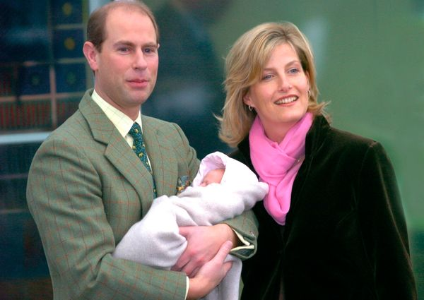 Edward and Sophie, Countess of Wessex, whom he married in 1999, showed off their newborn daughter, Lady Louise Windsor,
