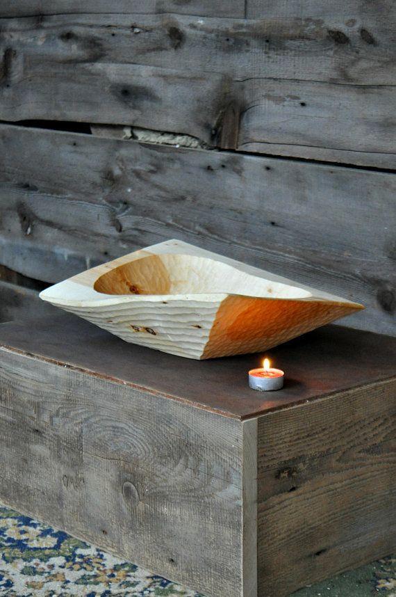 "This unique wabi sabi serving bowl is <a href=""https://www.etsy.com/listing/585676942/wood-bowls-handmade-bowls-wooden-servin"