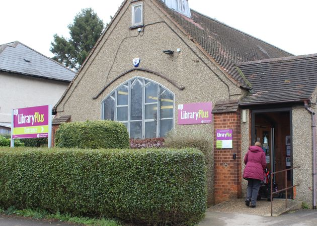 Abington library, pictured on a recent weekday morning, is under threat of closure after swingeing council...
