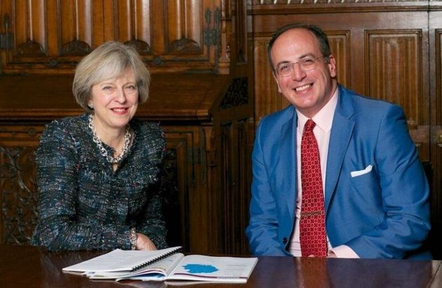 Libraries Minister Michael Ellis, right, pictured with Prime Minister Theresa May.