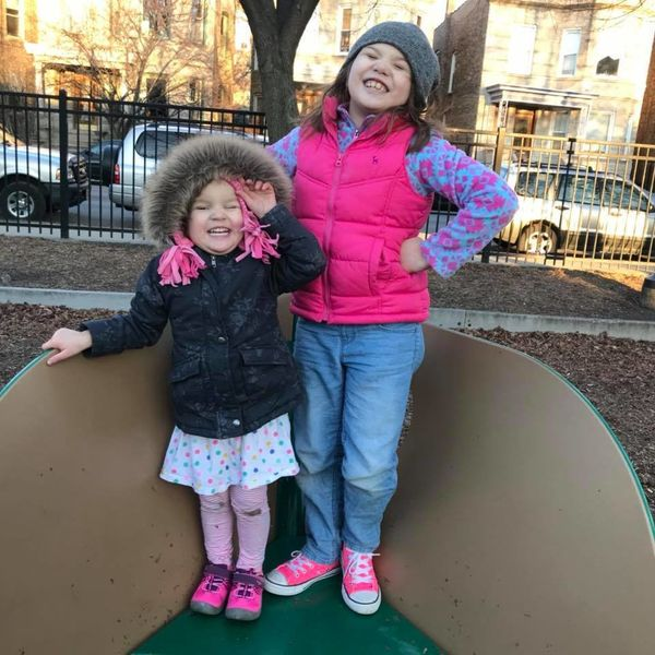 """""""Autism looks like two little girls. As a neuro divergent family, we listen to them and work to change the world for them, no"""