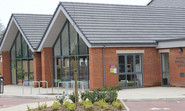 The new library at Moulton, Northants, opened to fanfare in June 2017 as part of a £2.3m development.