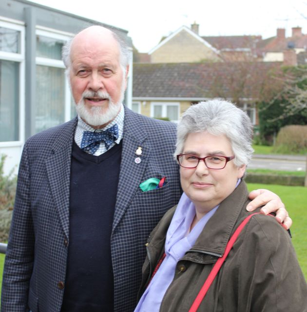 Former county librarian Alison Richards, right, with husband Graeme, has led a concerted campaign against Northamptonshire's proposed library cuts.