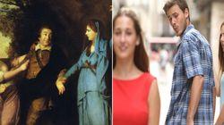 """Quelqu'un a trouvé l'ancêtre du mème """"distracted boyfriend"""" version XVIIIe siècle"""