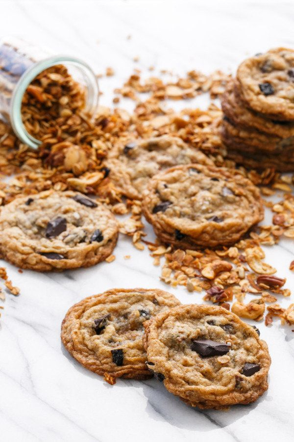 """<strong>Get the <a href=""""https://www.loveandoliveoil.com/2017/04/granola-chocolate-chip-cookies.html"""" target=""""_blank"""">Granola"""