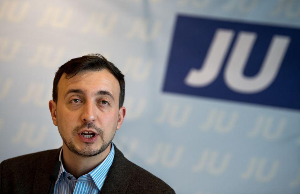 JU-Chef Paul Ziemiak auf einer Pressekonferenz vor Beginn des Deutschlandtags der Jungen