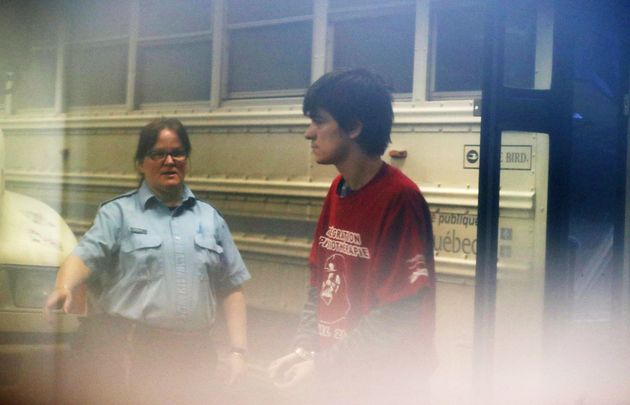 Alexandre Bissonnette, a suspect in a shooting at a Quebec City mosque, arrives at the court house in...