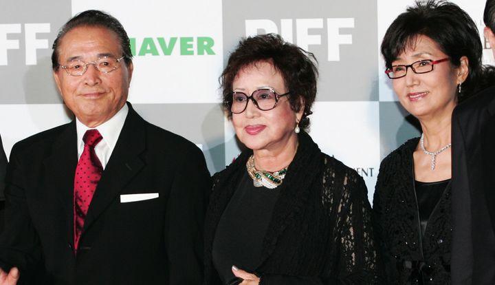 Choi Eun-hee, center, at the Busan International Film Festival.