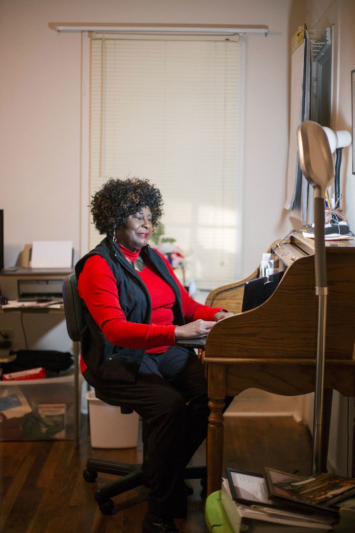 Longtime educator Hymethia W. Thompson, 69, came out of retirement to teach English after learning that Jackson Public School