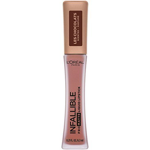 "To achieve Bey's signature sweat-proof pout, Sir John looked no further than the nearest drug store. ""For the lip we did a pinky-brown using <a href=""https://www.lorealparisusa.com/products/makeup/lip-color/lipstick/infallible-pro-matte-les-chocolats-scented-liquid-lipstick.aspx?&shade=dose-of-cocoahttps://www.amazon.com/LOreal-Paris-Cosmetics-Infallible-Chocolats/dp/B07BGBLK61?th=1"" target=""_blank"">L'Oreal Pro Matte Les Chocolats Scented Liquid Lipstick</a>."""