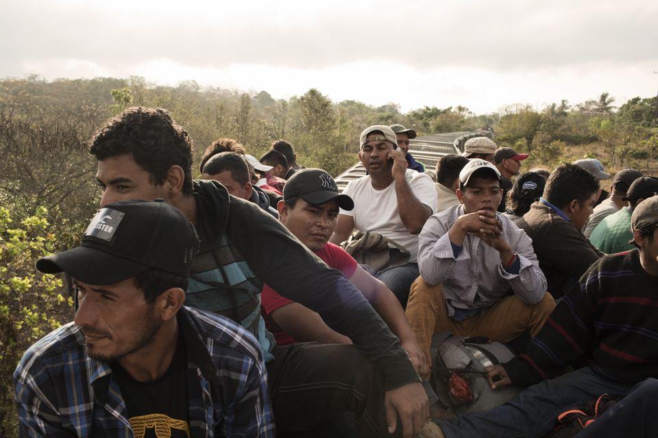 The number of migrants traveling in the caravan has decreased since it began, as some have broken off...