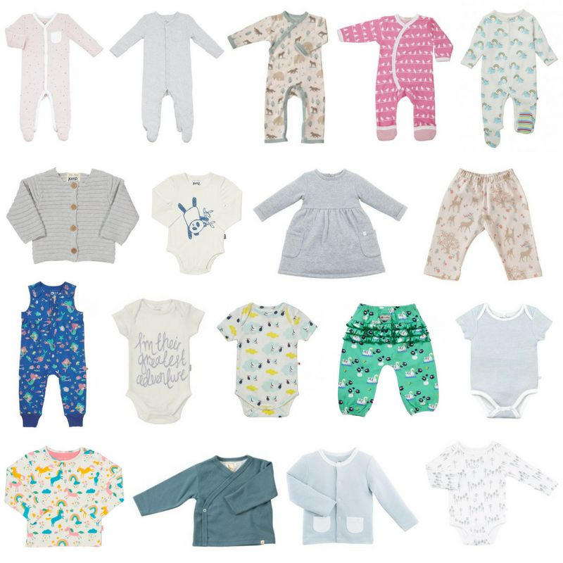 An example of a baby girl bundle, starting from £34, which shows a combination of 18 different items.