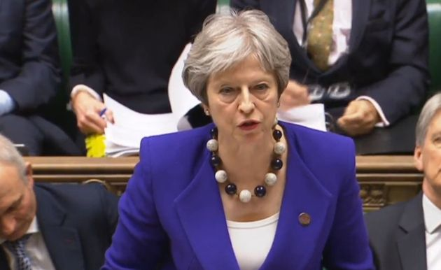 Prime Minister Theresa May during Prime Minister's Questions in the House of