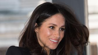 LONDON, ENGLAND - APRIL 18:  Meghan Markle attends a reception with delegates from the Commonwealth Youth Forum as part of Commonwealth Heads of Government Meeting (CHOGM) at the Elizabeth II Conference Centre on April 18, 2018 in London, England.  (Photo by Samir Hussein/Samir Hussein/WireImage)