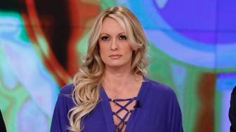 THE VIEW -  On Tuesday, April 17, Stormy Daniels sits down with the co-hosts of The View (11:00 a.m.-12:00 p.m. EDT) for her first live television interview. Daniels will be joined in studio by her attorney Michael Avenatti.  'The View' airs Monday-Friday (11:00 am-12:00 pm, ET) on the ABC Television Network.     (Photo by Heidi Gutman/ABC via Getty Images) JOY BEHAR, STORMY DANIELS, MICHAEL AVANETTI