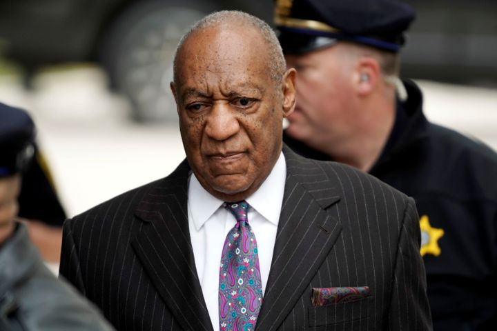 Bill Cosby arrives for the first day of his sexual assault retrial at the Montgomery County Courthouse in Norristown, Pennsyl