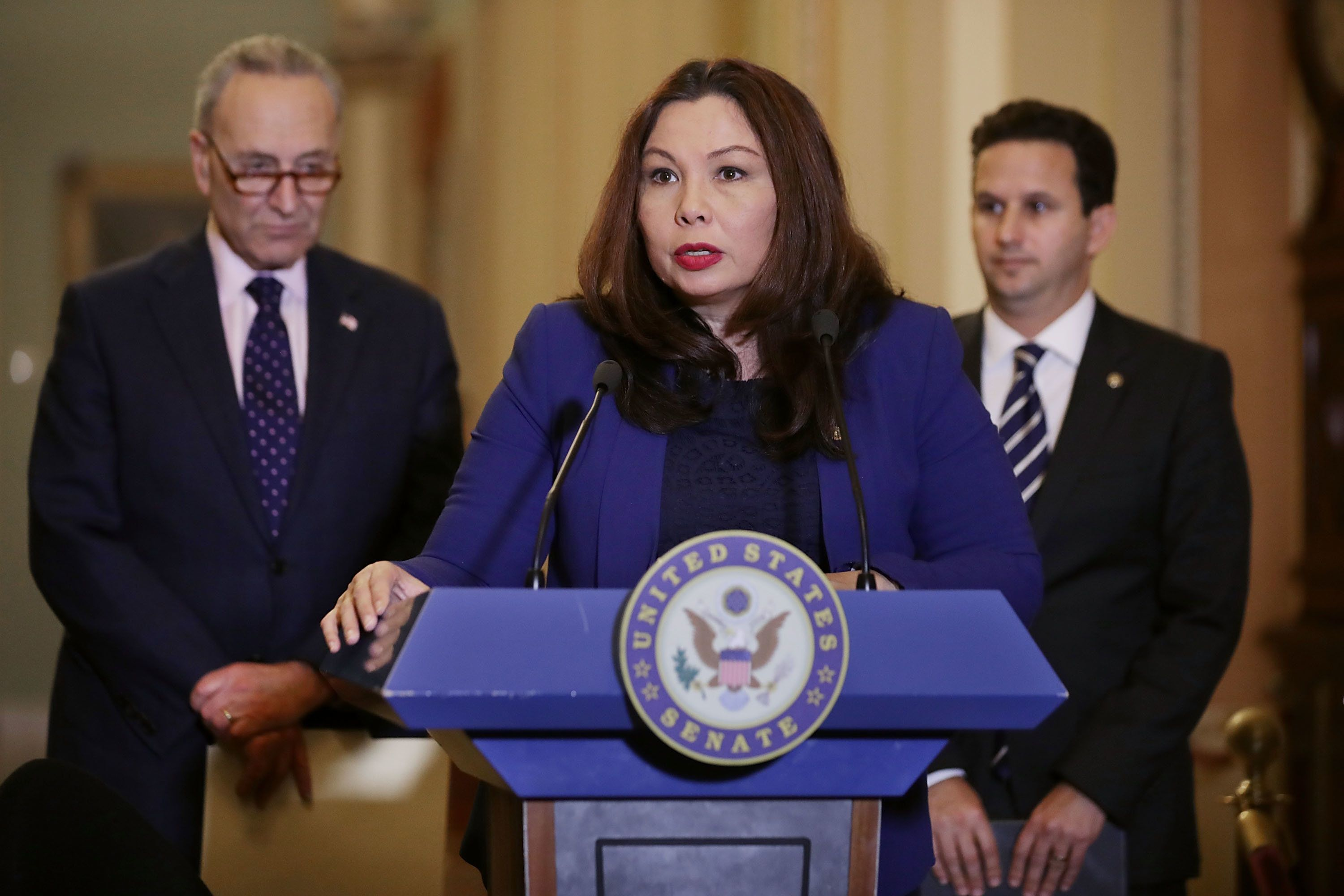 Duckworth, after giving birth, proposes change to allow babies on Senate floor