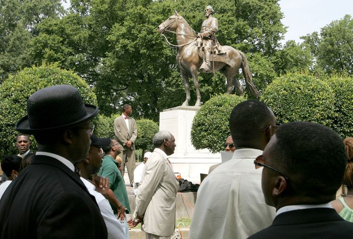 Back in 2005,protesters rallied against the name of Memphis' Nathan Bedford Forrest Park in front of a statue oft