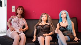 DORTMUND, GERMANY - APRIL 17: (EDITORS NOTE: Image contains graphic content.) Silicon sex dolls for sexual encounters sitting at the 'Bordoll' brothel on April 17, 2019 in Dortmund, Germany. Bordoll is Germany's first brothel to specialize in sex dolls. It currently offers 13 female dolls and one male doll and will soon be expanding its female line-up. Evelyn Schwarz, proprietress of the 'Bordoll' brothel, says 'sex dolls are so popular because the client can do what he wants to and nobody complains'. (Photo by Lukas Schulze/Bongarts/Getty Images)