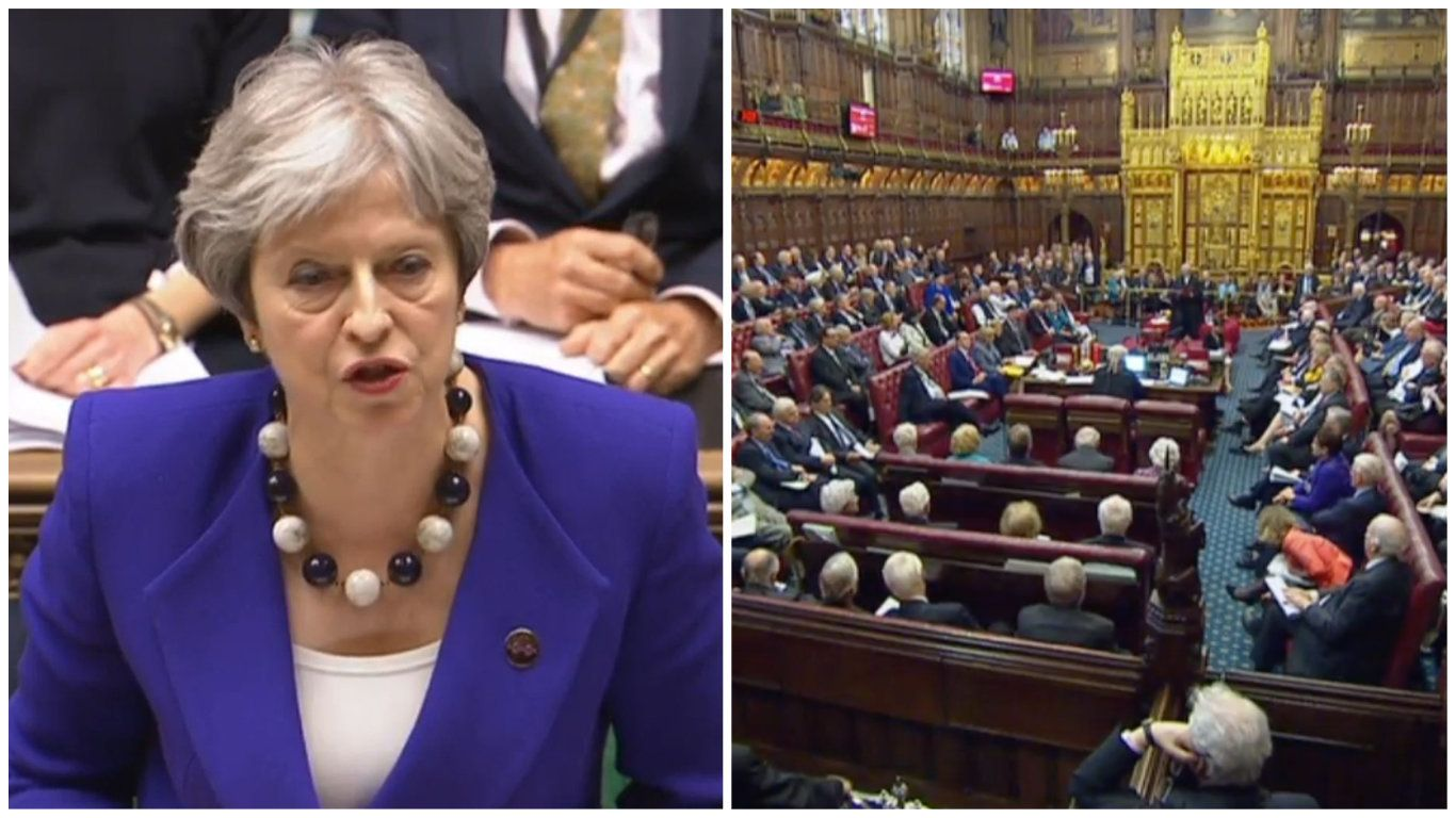 May Suffers Lords Defeat As Peers Vote To Avoid Hard