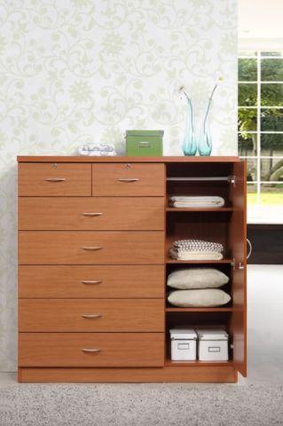"For a more unique storage solution, <a href=""https://www.wayfair.com/furniture/pdp/zipcode-design-roselyn-7-drawer-dresser-zi"