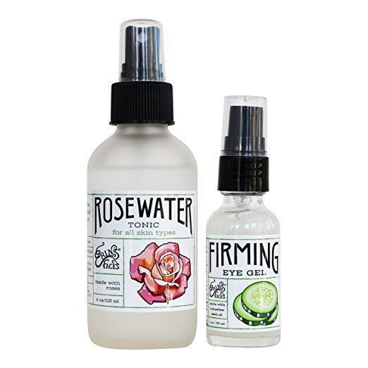 Take her skincare game to the next level with these non-toxic gems from Erin's Faces. Set the day with the rosewater tonic an