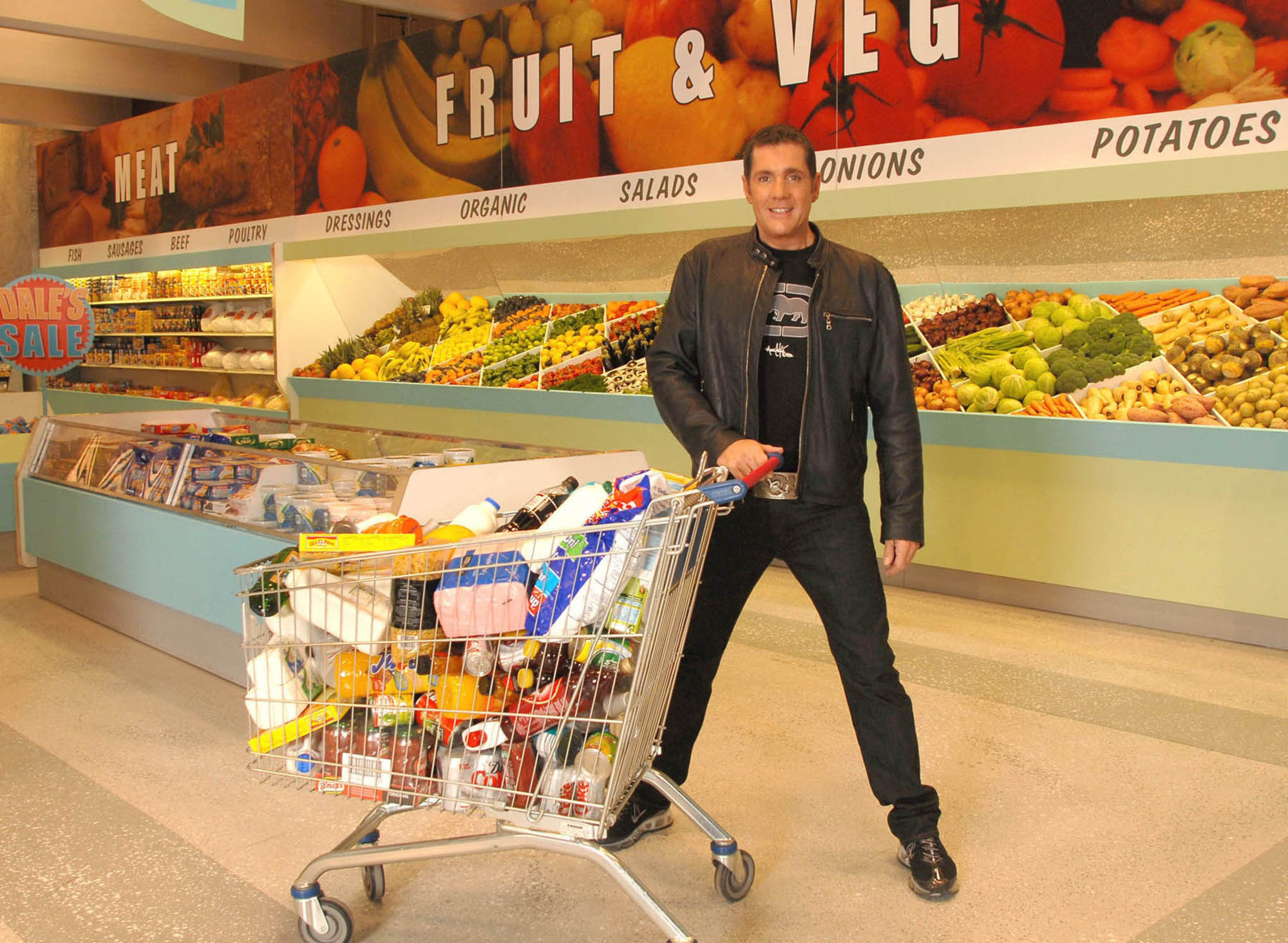 Dale in a promo shot for the 2007 version of 'Supermarket