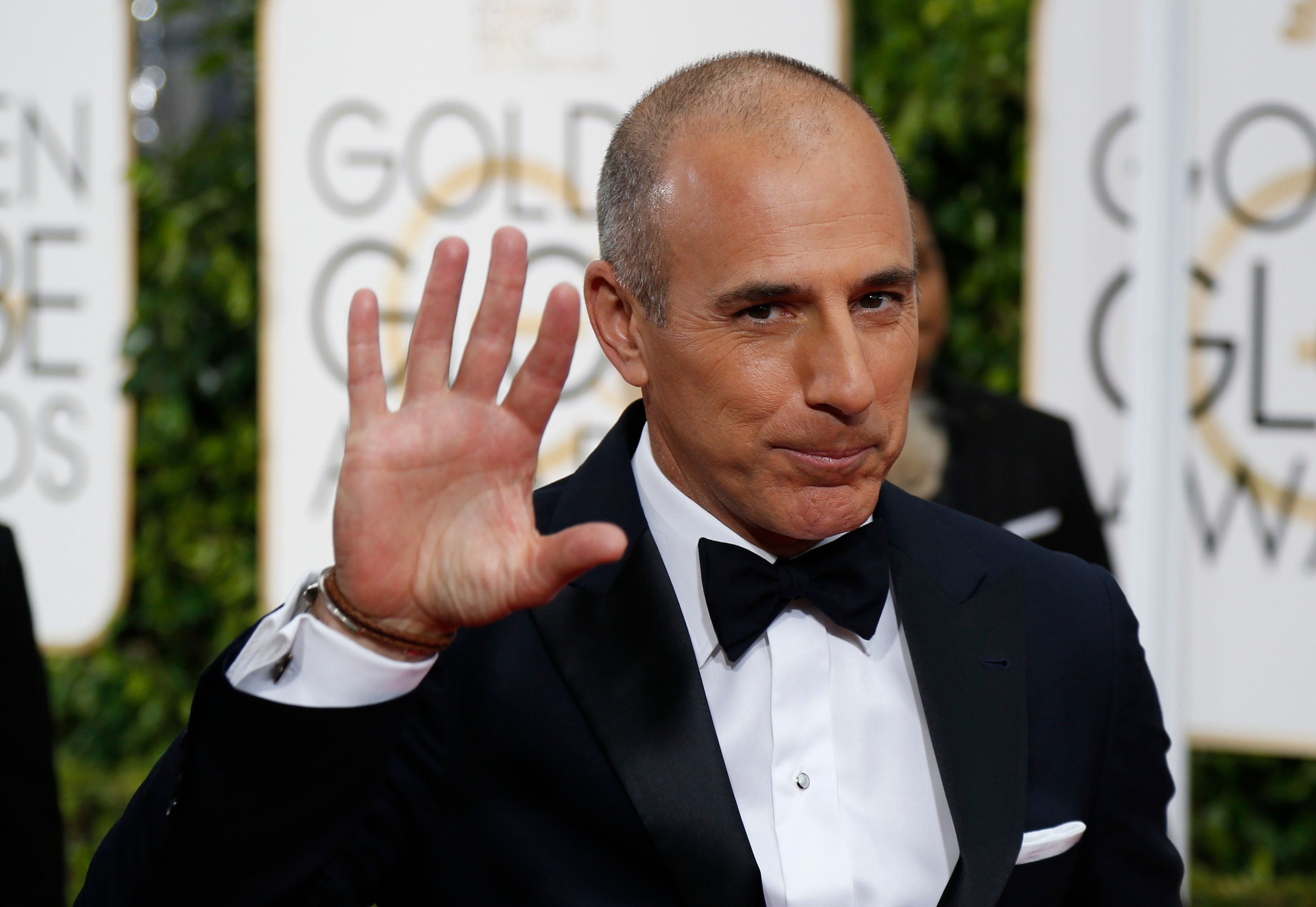 Television personality Matt Lauer arrives at the 72nd Golden Globe Awards in Beverly Hills, California January 11, 2015.   REUTERS/Mario Anzuoni (UNITED STATES  - Tags: ENTERTAINMENT)  (GOLDENGLOBES-ARRIVALS)