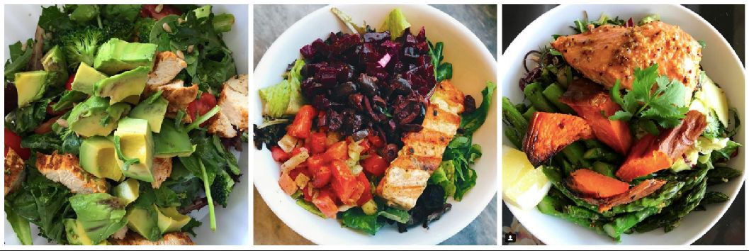 """Just three examples of how you can make your fatty salad, as seen on <a href=""""https://www.instagram.com/maxlugavere/"""" target=""""_blank"""">Max Lugavere's Instagram</a> account."""
