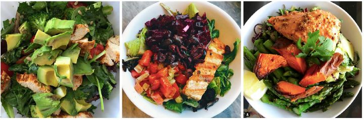 "Just three examples of how you can make your fatty salad, as seen on <a href=""https://www.instagram.com/maxlugavere/"" target=""_blank"">Max Lugavere's Instagram</a> account."